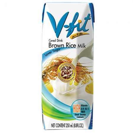 Молоко из коричневого риса  без сахара V-FIT 250 мл